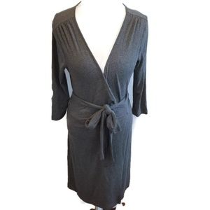 Banana Republic wrap dress gray rayon